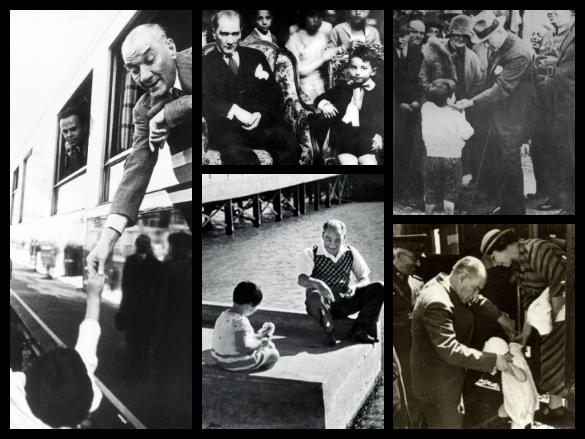 20 Kasım Dünya Çocuk Hakları Gününe Özel: Fotoğraflar ve Sözleri ile Atatürk'ün Çocuk Sevgisi