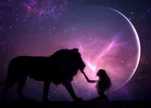 aslan burcunda yeni ay
